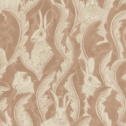 Hares in hiding Dusty Pink
