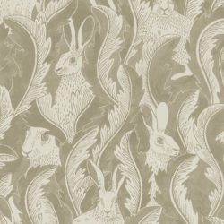 Hares in hiding Taupe